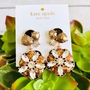 Kate Spade Flower statement earrings